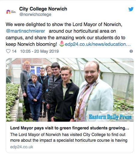 tweet city college gardenting